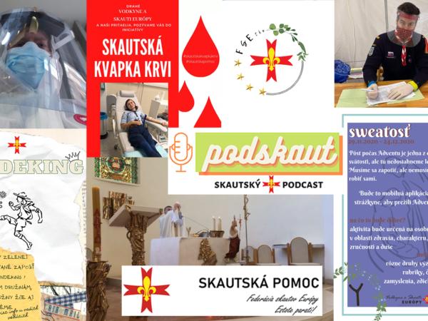 Poďakovanie členom Združenia katolíckych vodkýň a skautov Európy na Slovensku za aktivity počas obmedzenia skautskej činnosti